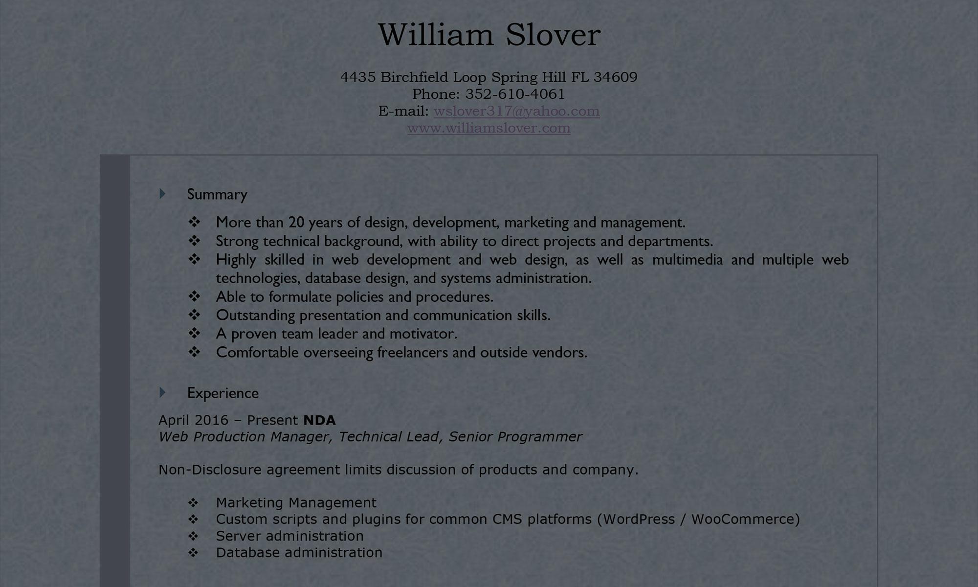 William Slover
